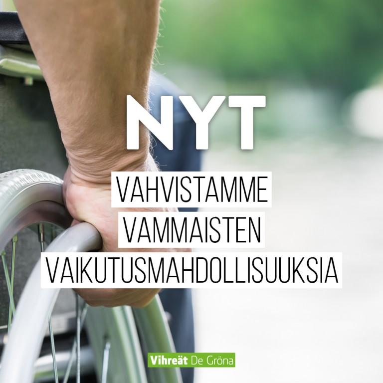 Vahvistamme vammaisten vaikutusmahdollisuuksia
