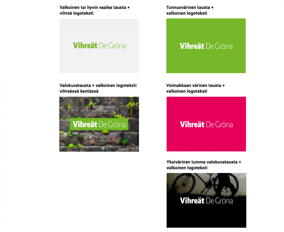 Logo-ohjeistuksia kuvana