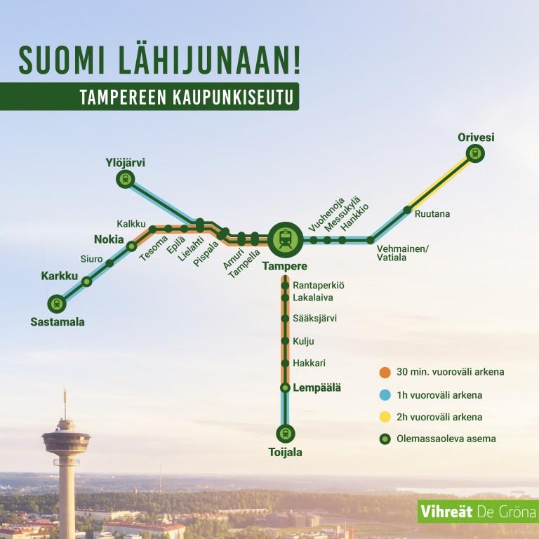 Tampereen lähijunat