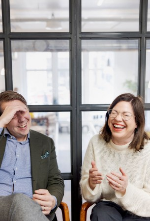 Kuvassa Jaakko Stenhäll ja Anni SInnemäki
